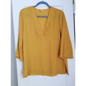 Interi Mustard yellow blouse size M